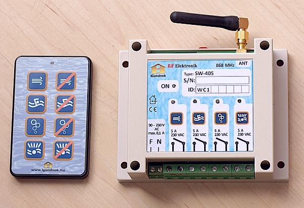 iGondnok - SW-405 rádiós medencevezérlő készlet